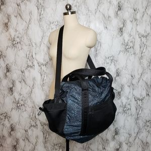 Lululemon black Splatter Duffel Gym Travel bag